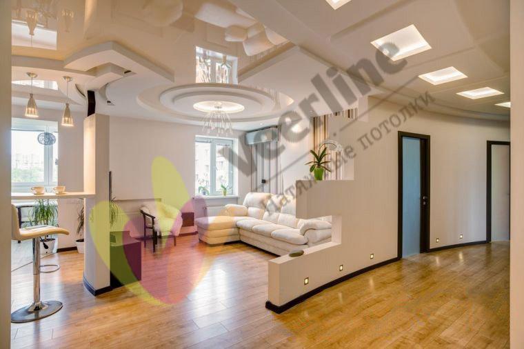 глянцевый натяжной потолок  (4)+