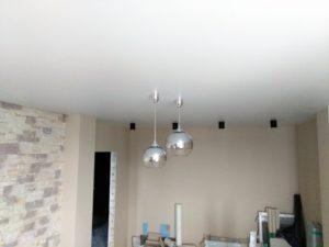 белые натяжные потолки фото