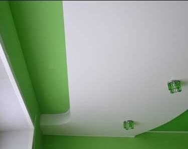 натяжной потолок без гипсокартона