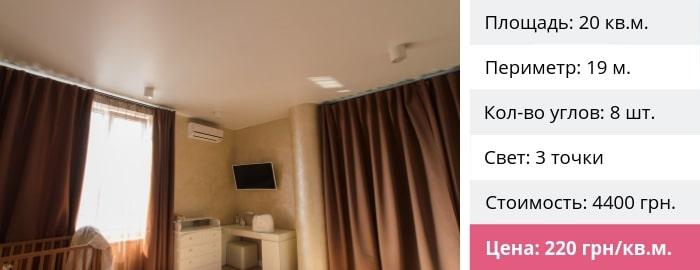Натяжные потолки в гостиную стоимость