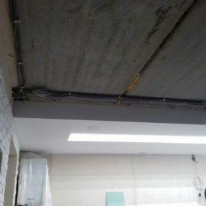 натяжной потолок до и после